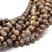 Leopard Skin Jasper Beads, Multicolor, 8mm Round