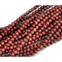 Sesame Jasper Beads, Red, 8mm Round