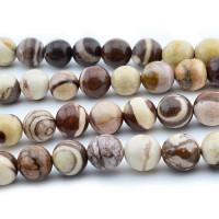 Zebra Jasper Beads, 8mm Round