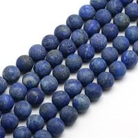 Matte Lapis Lazuli Beads, 6mm Round