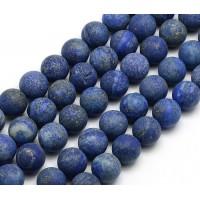 Matte Lapis Lazuli Beads, 10mm Round