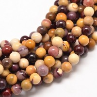 Mookaite Beads, Multicolor, 8mm Round