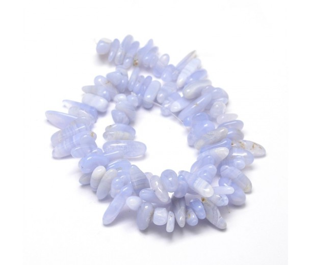 Blue Lace Agate Stick Beads, Natural, 8-30mm