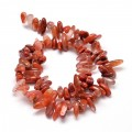 Red Agate Stick Beads, 8-30mm, 15 inch strand
