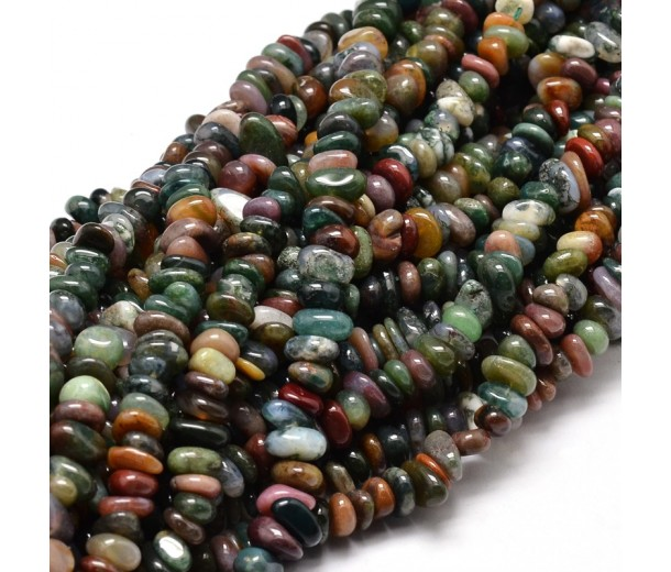 Indian Agate Beads, Small Chip