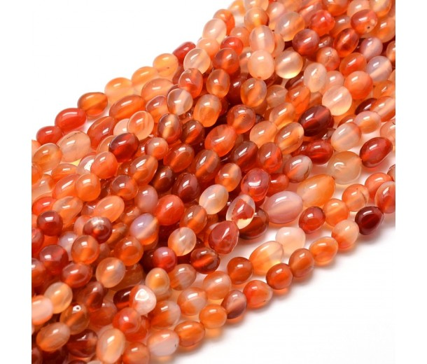 Agate Beads, Red, Small Nugget