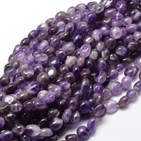 Amethyst Beads, Natural Medium Purple, Small Nugget