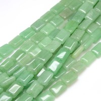 Green Aventurine Beads, 18x12mm Rectangle