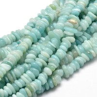 Amazonite Beads, Light Green, Small Chip