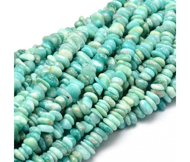 Amazonite Beads, Blue Green, Small Chip