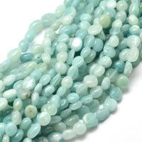 Amazonite Beads, Natural, Light Teal, Small Nugget