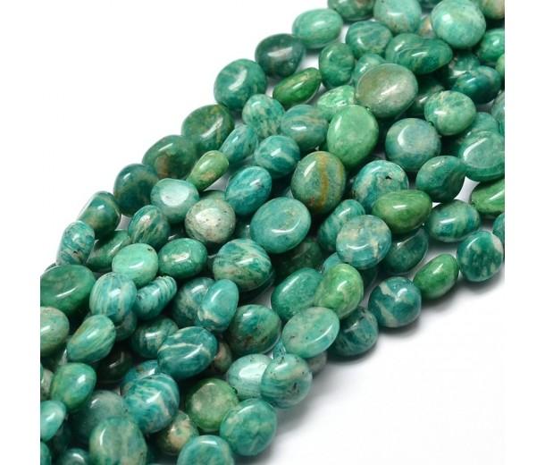 Russian Amazonite Beads, Medium Nugget