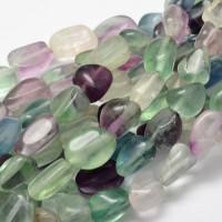 Fluorite Beads, Large Nugget