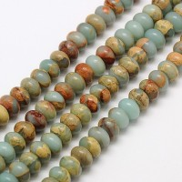 Snakeskin Jasper Beads, 5x8mm Smooth Rondelle