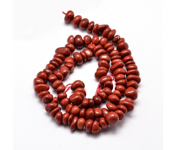 Red Jasper Beads, Small Chip