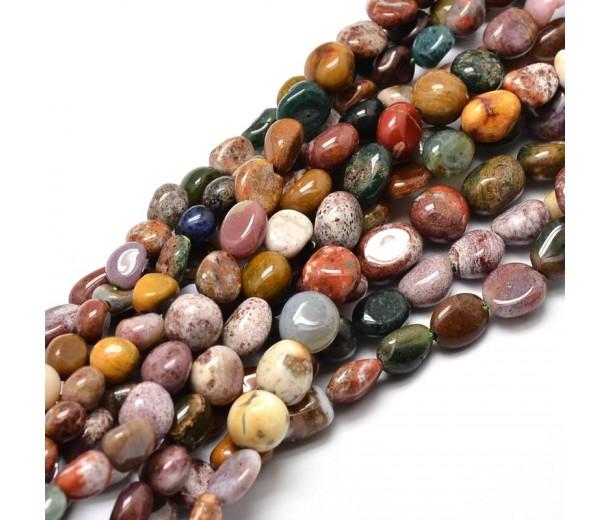 Ocean Jasper Beads, Natural, Small Nugget