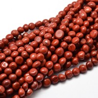 Red Jasper Beads, Small Nugget