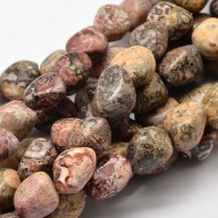 Leopard Skin Jasper Beads, Large Nugget