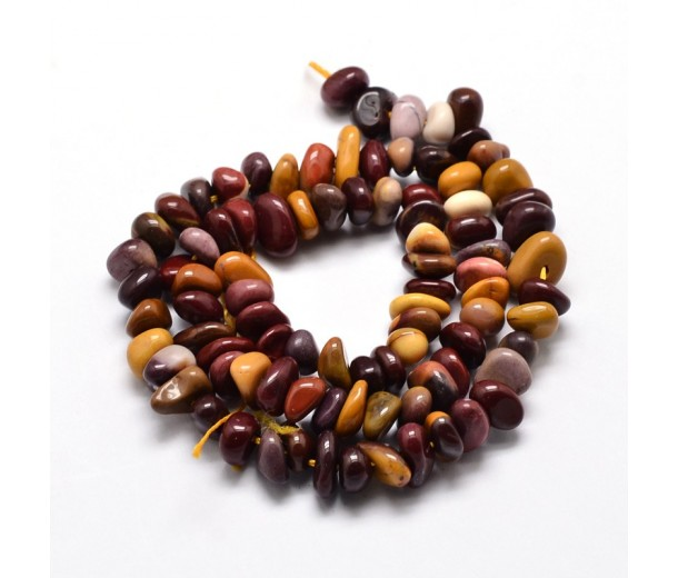 Mookaite Beads, Multicolor, Small Chip