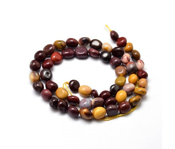 Mookaite Beads, Multicolor, Small Nugget