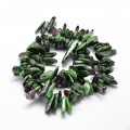 Ruby in Zoisite Stick Beads, 8-30mm