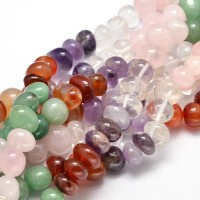 Mixed Gemstone Beads, Multicolor, Medium Nugget