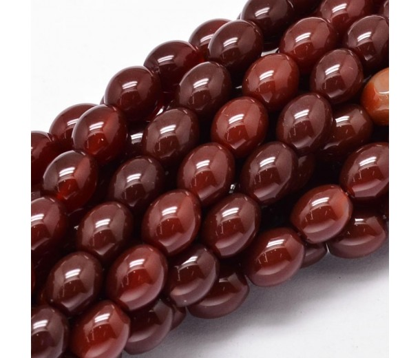 Dark Red Agate Beads, 10x8mm Barrel