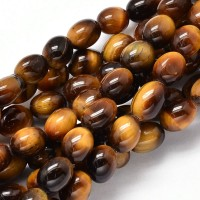 Tiger Eye Beads, 11x8mm Barrel