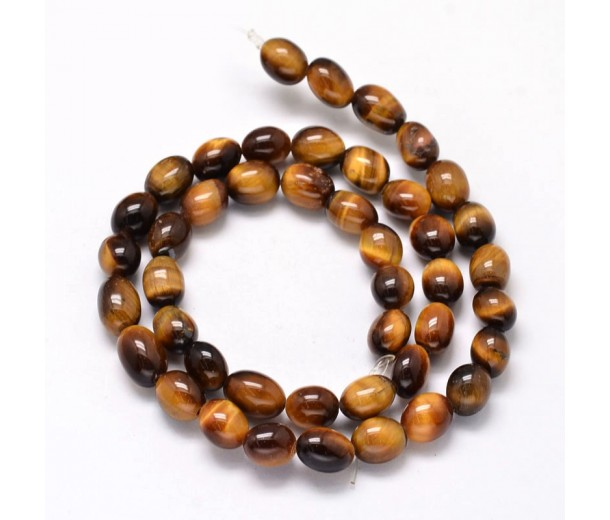 Tiger Eye Beads, 11x8mm Barrel