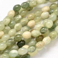 Butter Jade Beads, 10x8mm Barrel