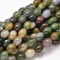Indian Agate Beads, Natural, 10x8mm Barrel
