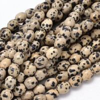 Dalmatian Jasper Beads, Natural, 10x8mm Barrel