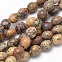 Leopard Skin Jasper Beads, 10x8mm Barrel