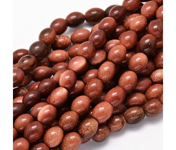 Goldstone Beads, 10x8mm Barrel