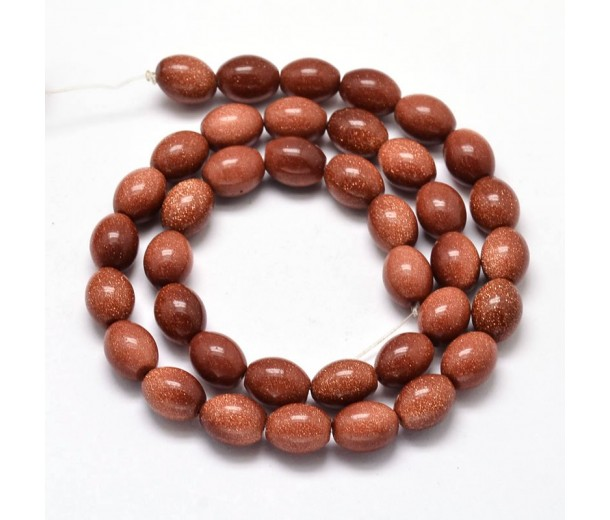 Goldstone Beads, 10x8mm Barrel