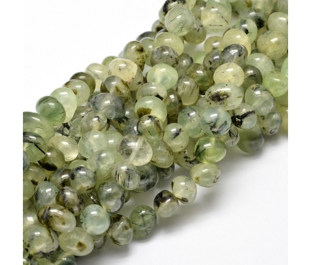 Prehnite Beads, Green, Medium Nugget