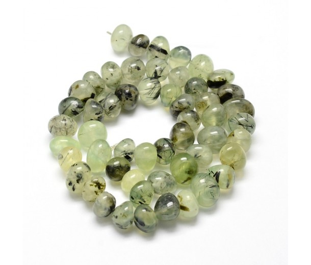 Prehnite Beads, Natural, Green, Medium Nugget