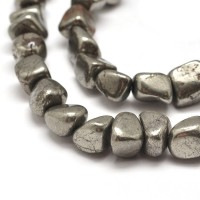 Pyrite Beads, Small to Medium Tumbled Nugget