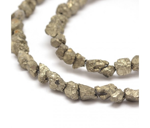 Pyrite Beads, Small Rough Nugget