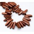 Goldstone Stick Beads, 13-22mm