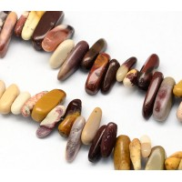 Mookaite Stick Beads, Multicolor, 13-22mm