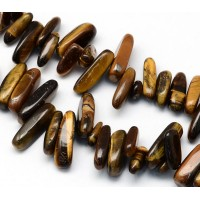 Tiger Eye Stick Beads, 13-22mm