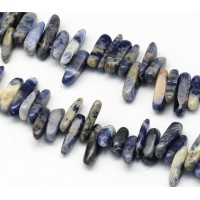 Sodalite Stick Beads, 13-22mm