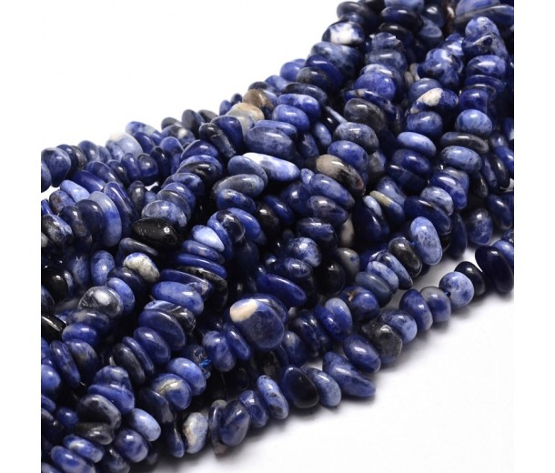 Sodalite Beads, Dark Blue, Small Chip