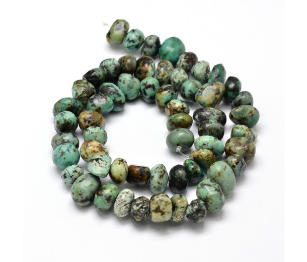 African Turquoise Beads, Medium Nugget