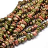 Unakite Beads, Medium Nugget