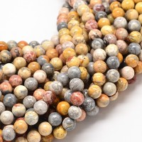 Crazy Lace Agate Beads, 6mm Round