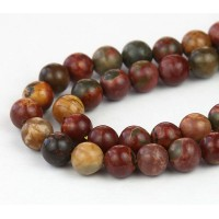 Red Creek Jasper Beads, 6mm Round