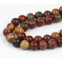Red Creek Jasper Beads, 6mm Round