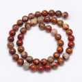 Red Picture Jasper Beads, 6mm Round